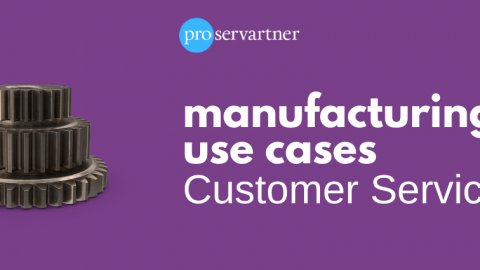Manufacturing processes to automate: customer services