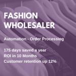 fashion wholesaler - rpa order processing