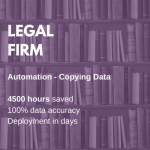 legal firm- copying data