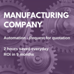 manufacturing rpa case study