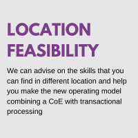 shared services location feasibility